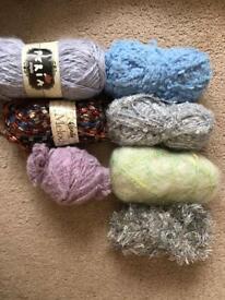 Wendy & other brands Wool/ yarn knitting crochet bundle. Approx 395 grams