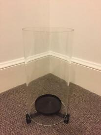 Glass cylinder candle holder - great condition