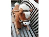 Singing pony small rocking horse please read description