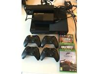 Xbox 1, 4 controllers, xbox 1kinect, 3 games, great offer £220!!! Or can sell