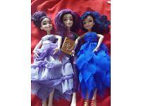 3 Descendants dolls for sale
