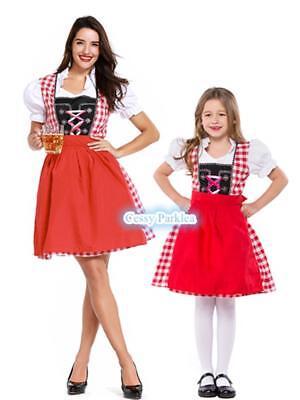 Girls Women Ladies Beer Maid Wench German Heidi Gretchen Oktoberfest Costume - Maid Costumes For Girls