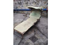 Antique classic deck chair recliner 1930s