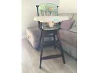 Baby wooden high chair for feeding / Summer brand