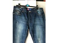 Mens diesel blue jeans like new W38 L34