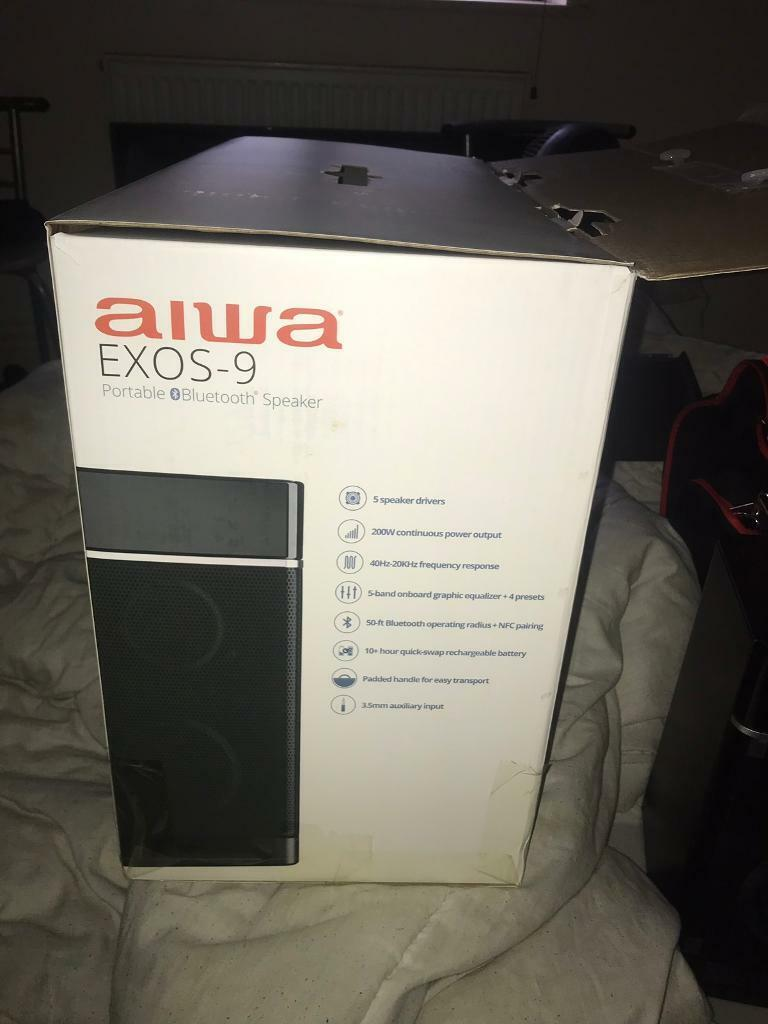 Aiwa Exos-9 Bluetooth Speaker | in Lowestoft, Suffolk | Gumtree