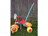 In the Night Garden Trike, with parent handle