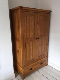 Solid oak wardrobes x 2