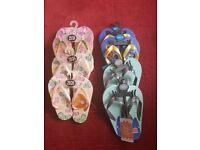 Kids flip flops bundle - 8 pairs in total Brand new with tags. Job lot