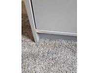 Habitat Malibu 3 Door 4 Drawer Mirror Wardrobe - Grey