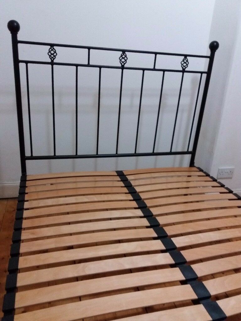 Black Victorian Wrought Iron \'Nights in Iron\' Double Bed Frame | in ...