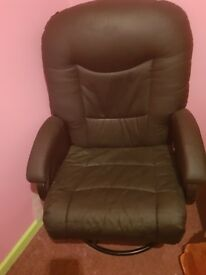 Black leather nursing chair