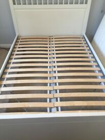 Ikea Double Bed White Wood