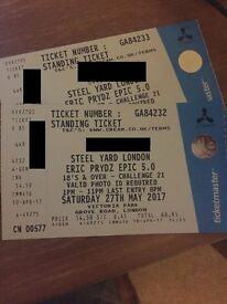 2 x Eric Prydz Tickets - 27th May - CAN MEET OUTSIDE EVENT