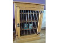 Pine cupboard - wine/food/hifi etc, v g condition