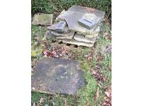 York stone slabs, random sizes
