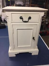 Cream bedside cabinet