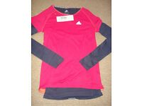 BNWT Adidas climalite double layer top, size XS (8)