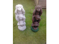 XMAS SALE. *Here no, see no , speak no evil monkeys* was £30 now £15 each
