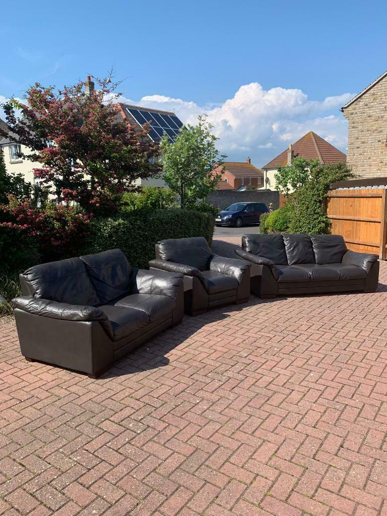 Leather sofas suite DFS | in Portland, Dorset | Gumtree