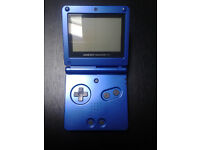 game boy advance sp with 4 games