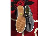 Almost new men's Lyle and Scott grey canvas shoes size 9