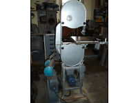 Tauco Industrial Wood / Metal Bandsaw, Phase Changer and Grinder