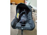 Joie Juva Classic 0 Plus Car Seat in Black Ink used only a couple a times