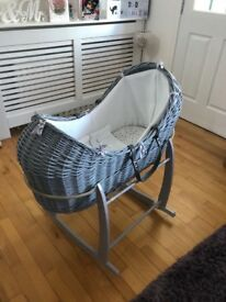 Clair de Lune Moses Basket and Bedding