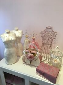 Large collection of shabby chic interior items