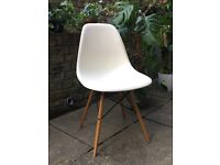 4 x Vitra Eames DSW Chairs - Cream and Light Maple