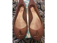 Authentic Vivienne Westwood nude divine orb shoes size 6