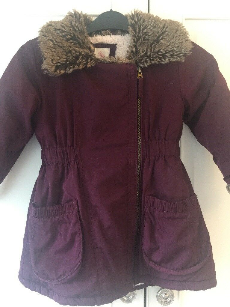 484df8ebead6 Girls John Rocha fur lined coat age 3-4