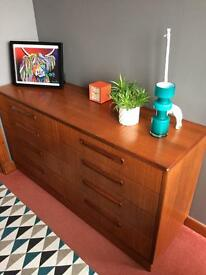 Vintage Retro 60's teak Danish 8 drawer chest by Gplan