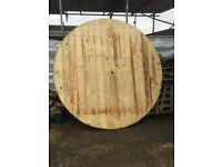 Very large wooden cable reel top's/base's (D.I.Y project-top's bases etc)