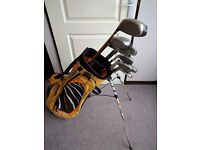 Mens Set of Right Hand Golf Clubs in PING bag