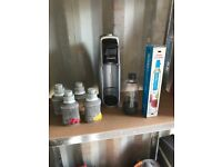 Soda Stream Complete With 2 Gas Bottles One Brand New - Excellent Condition