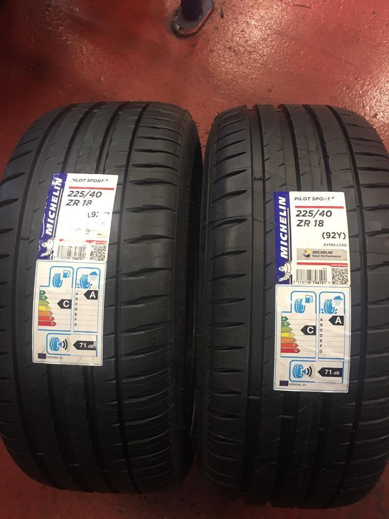 Michelin Pilot Sport >> Michelin Pilot Sport 4 225 40 18 - 255 35 18 X4 not ...