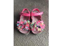 Girls Floral Pink Sandals- Toddler Size 6
