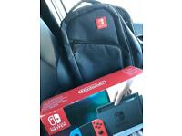 Nintendo Switch and Nintendo Switch Bag