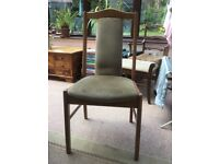 Extending wooden table and chairs