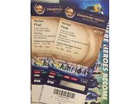 2x Bedser stand ( covered ) India Pakistan final champions trophy 500£ each
