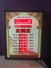Azaan clock brand new boxed with remote control 5 times azaan