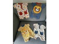 Boys 0-3 months romper bundle, perfect condition, smoke/pet free home