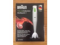 NEW Braun Multiquick 1 MQ 100 hand held food/smoothie blender/processor