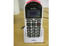 USED ITEM - SIM FREE MOBILE PHONE FOR ELDERLY WITH NEW REPLACEMENT BATTERY AND DOCKING STATION