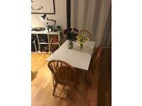 Set of four wooden Ercol style dining chairs. Very good condition, sturdy build