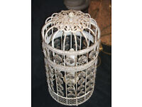 CRYSTAL EFFECT BIRD CAGE TABLE LIGHT