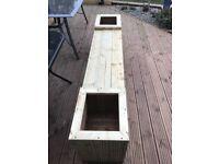 Hand Hade Solid Decking Garden Bench Planter