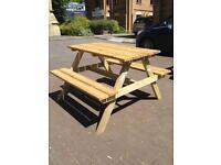 Garden furniture 4 seater picnic table